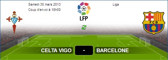 ... En direct Celta Vigo vs FC Barcelone sur aljazeera sport Le 30-03-2013