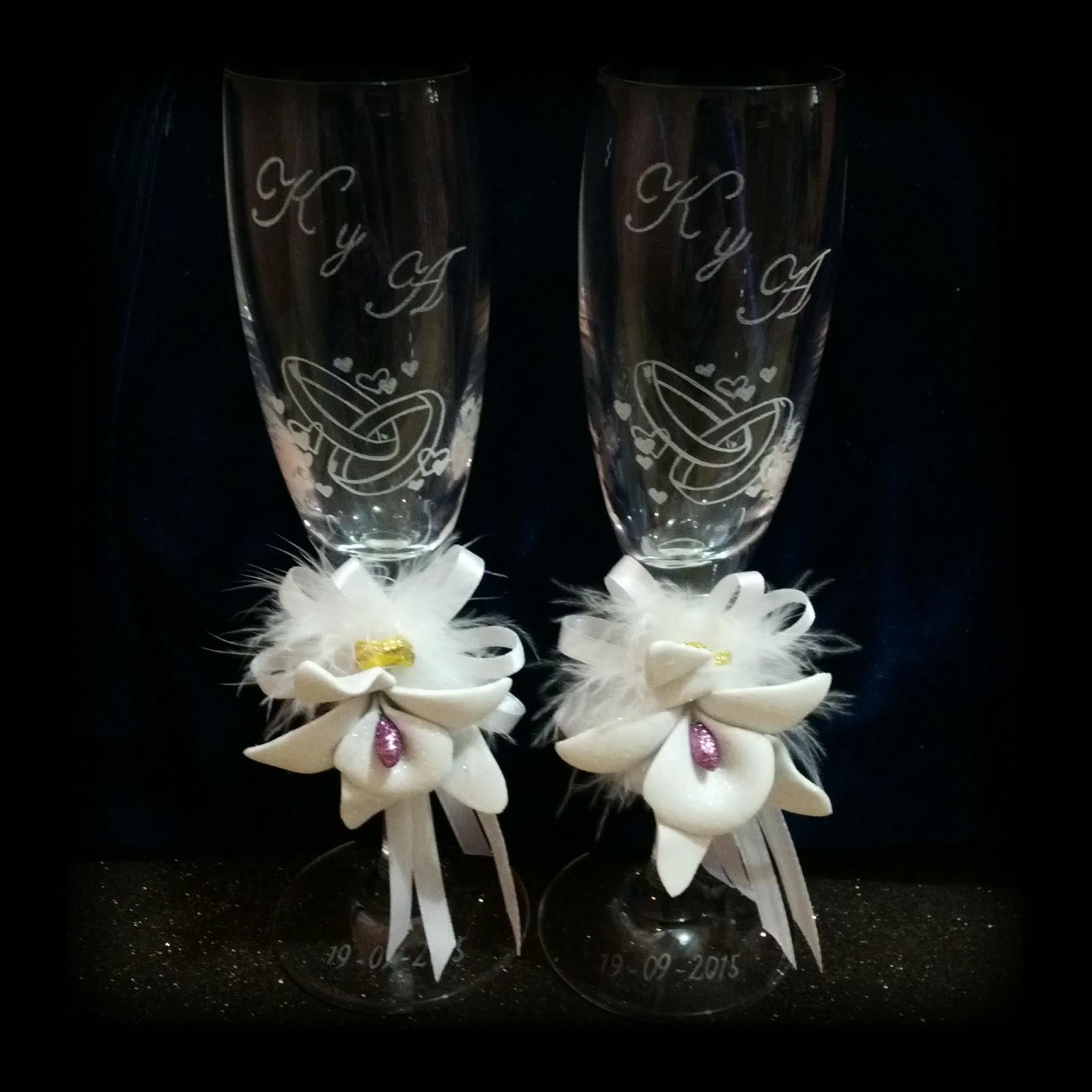 Copas grabadas a mano para bodas 15 a os aniversarios - Fotografias para decoracion ...