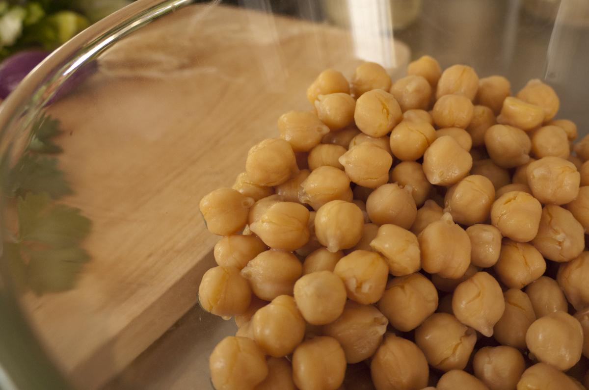 Chickpeas, aka garbanzo beans, aka Cicer arietinum