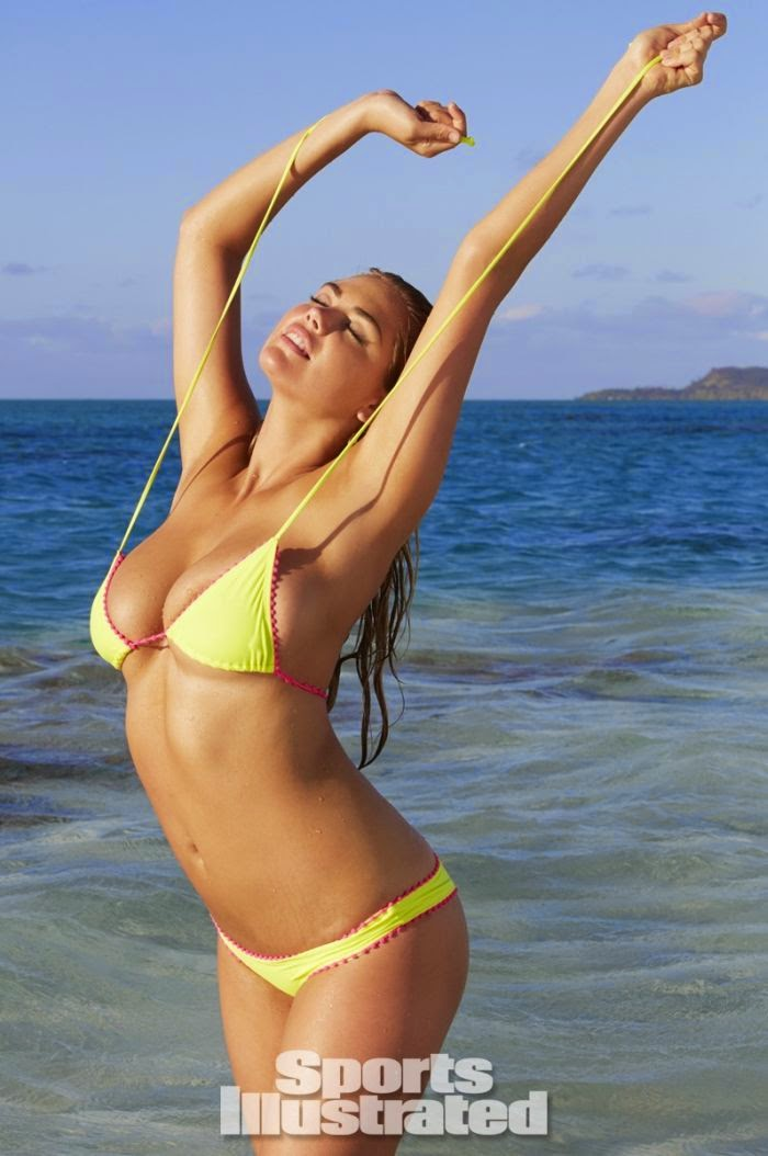 Kate Upton shows off her Bikini shapes for the Swimsuit 2014 issue of Sports Illustrated and it appears that she is in high demand during a photo shoots at the Cook Island.