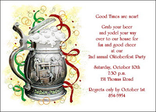 Oktoberfest party invitation cards
