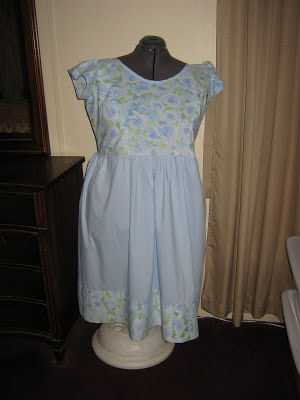blue roses dress #2  sewplus.blogspot.com