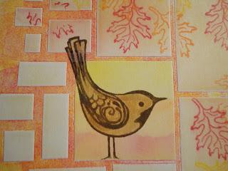 Stamped bird image