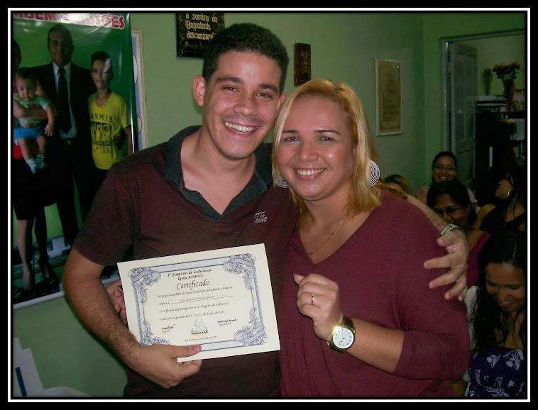 Luiz Afonso e Rose- Entrega de Certificado
