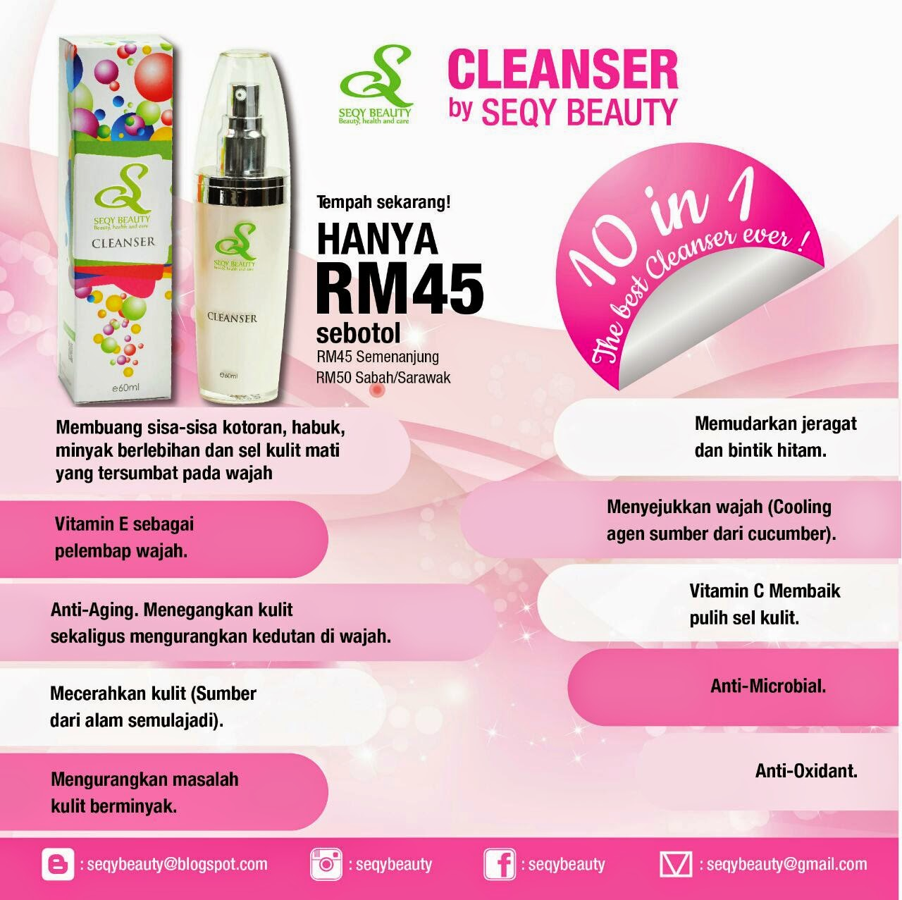 Saya jual:Cleanser by Seqy beauty