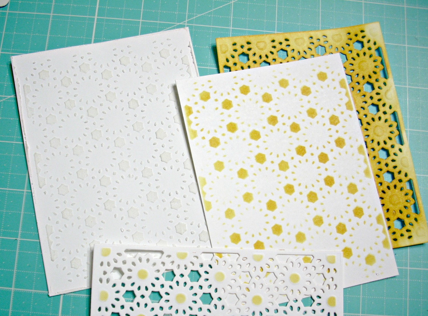Examples using the ODBD Custom Daisy Chain Background Die