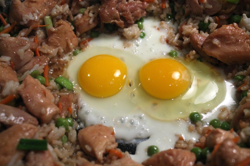 The 99 cent chef chicken fried rice recipe you cant get much cheaper than rice veggies and chicken oh and you add two eggs to make my chicken fried rice ccuart Image collections
