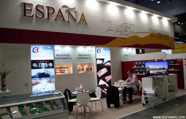 Stand de España en la feria Korea Food Show 2013