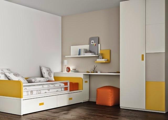 habitacion infantil con cama nido y armario