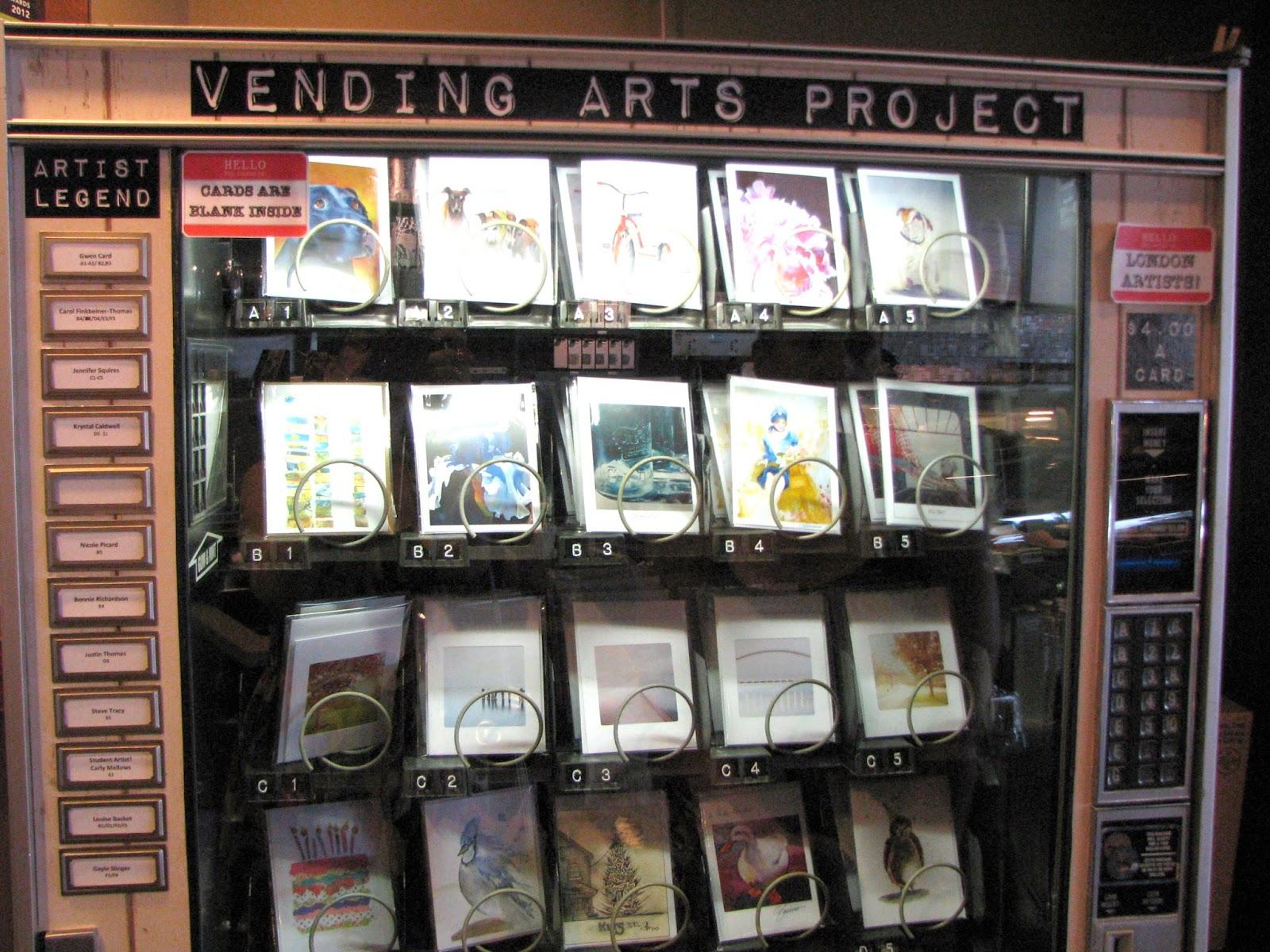 card vending machine locations