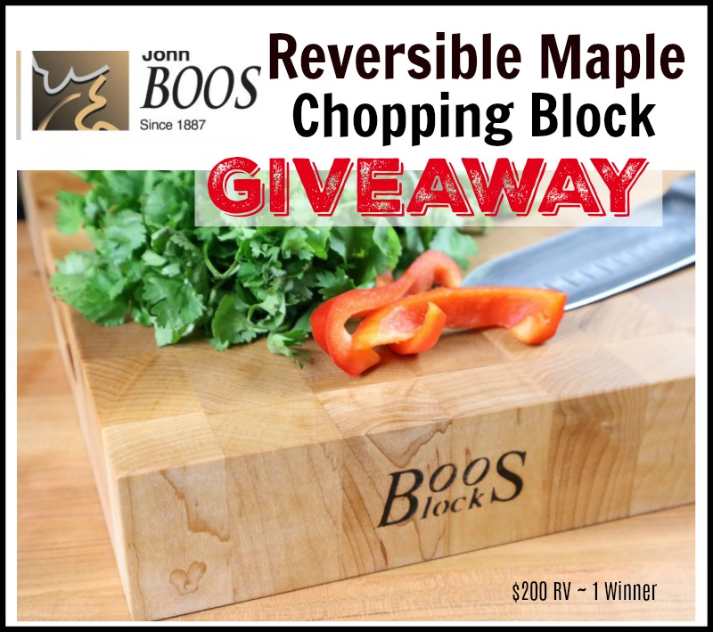John Boos Co. Reversible Maple Chopping Block