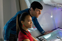 Zoe Saldana Zachary Quinto Star Trek Into Darkness