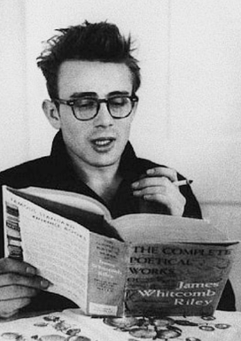 James Dean reading a book