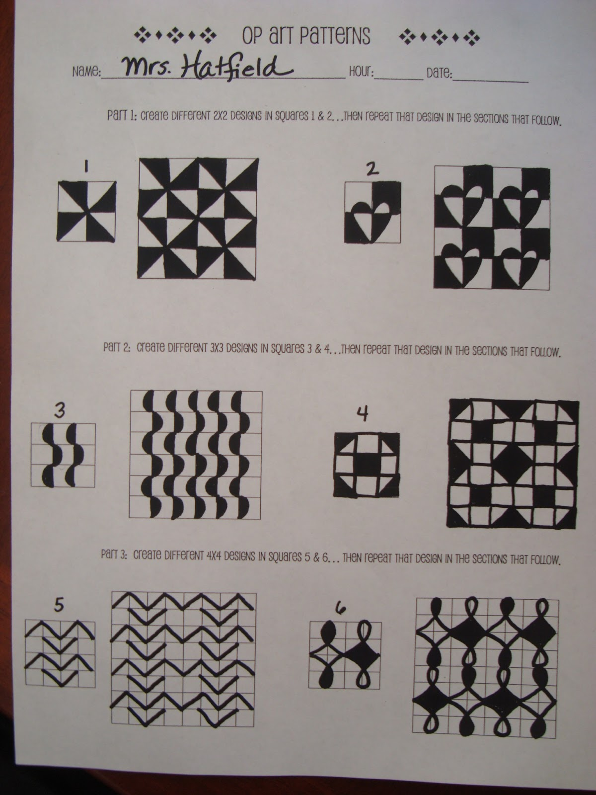 Worksheets Op Art Worksheet adventures of a middle school art teacher 7th grade op lesson example