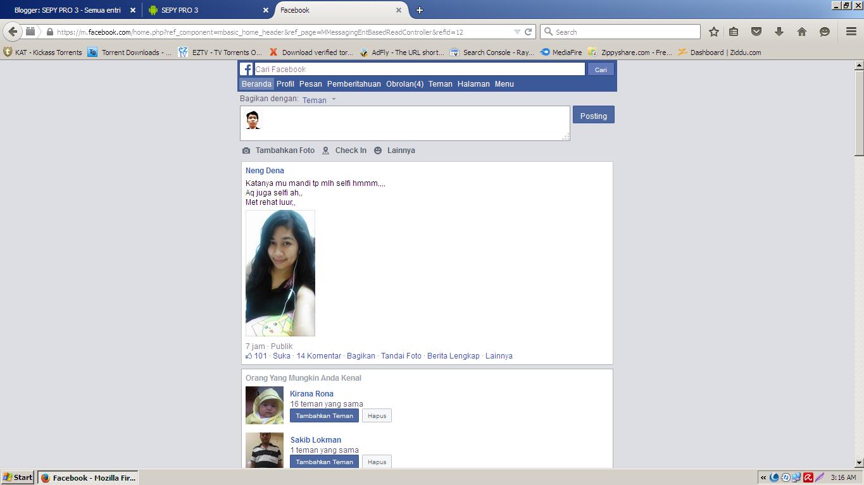 Cara Mengubah tampilkan Facebook PC menjadi mobile ~ Sepy ...