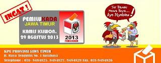 Jadual Penyelenggaraan Pemilukada Jawa Timur 2013