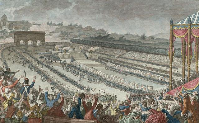 La verdadera celebración de Francia Fiesta de la Federación 14 de julio de 1790