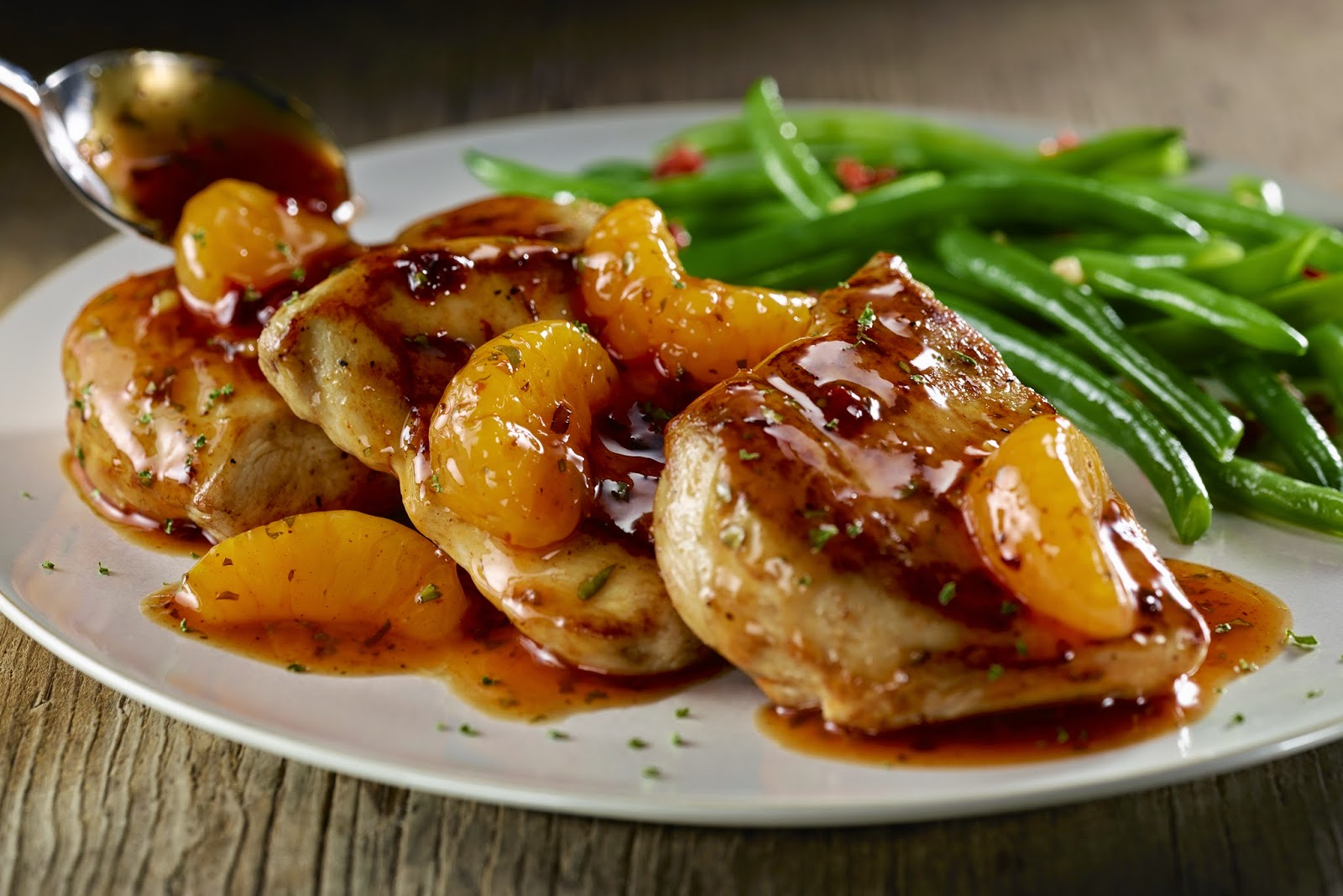Chipotle Orange Chicken : Grilled chicken breasts in a spicy chipotle ...