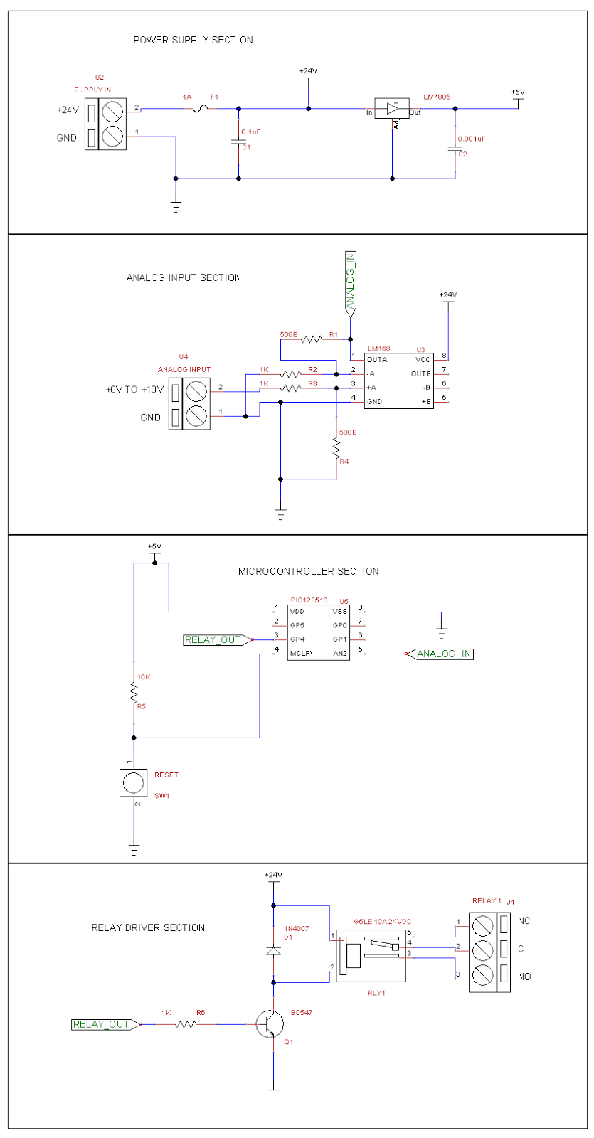 Pic12f510 Based Voltage Trigger Switch Industrial Embedded Life Wiring Diagram Most Of The Automation Circuits Makes Use Terminal Blocks In Their Circuit Where You Can Plug Multi Stranded Wire