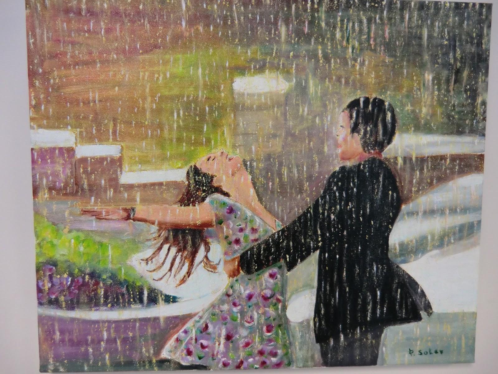 Pepita soler escobar pareja en lluvia - Cuadros de parejas ...