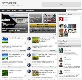 Download MyTimeLine - Free Responsive Blogger Template