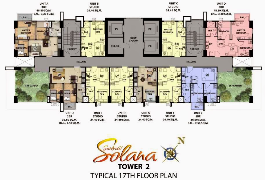 Solana Condominium Tower 2 Typical Floor Plan