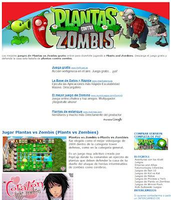 juegos online plantas zombies