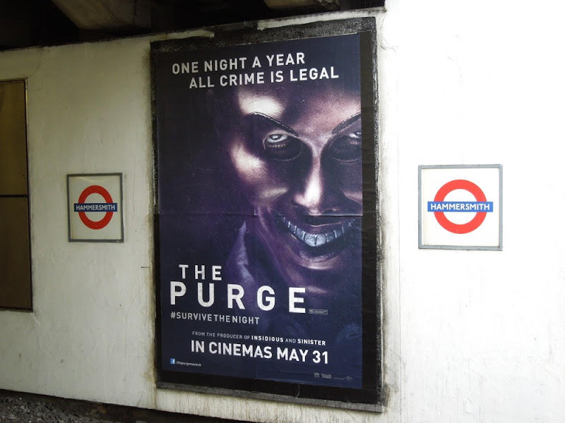 The Purge London Underground poster