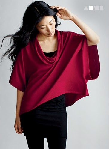 Eileen Fisher GREAT red! Love the look.