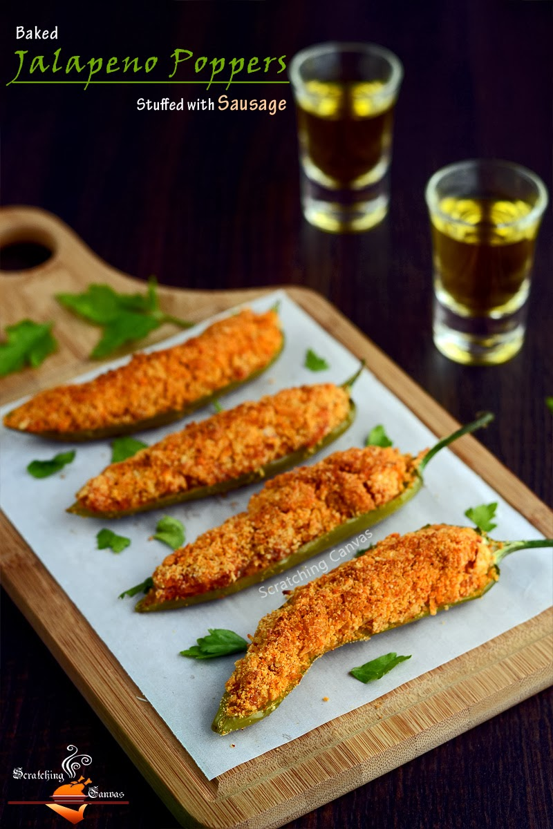 '0' Oil Baked Jalapeno Poppers