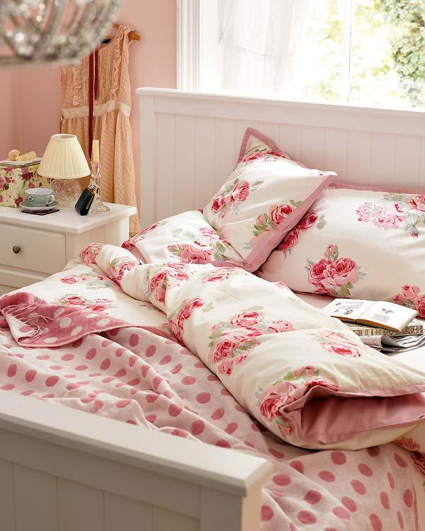 Marta decoycina la vie en rose 39 deja que las rosas - Decoracion ropa de cama ...
