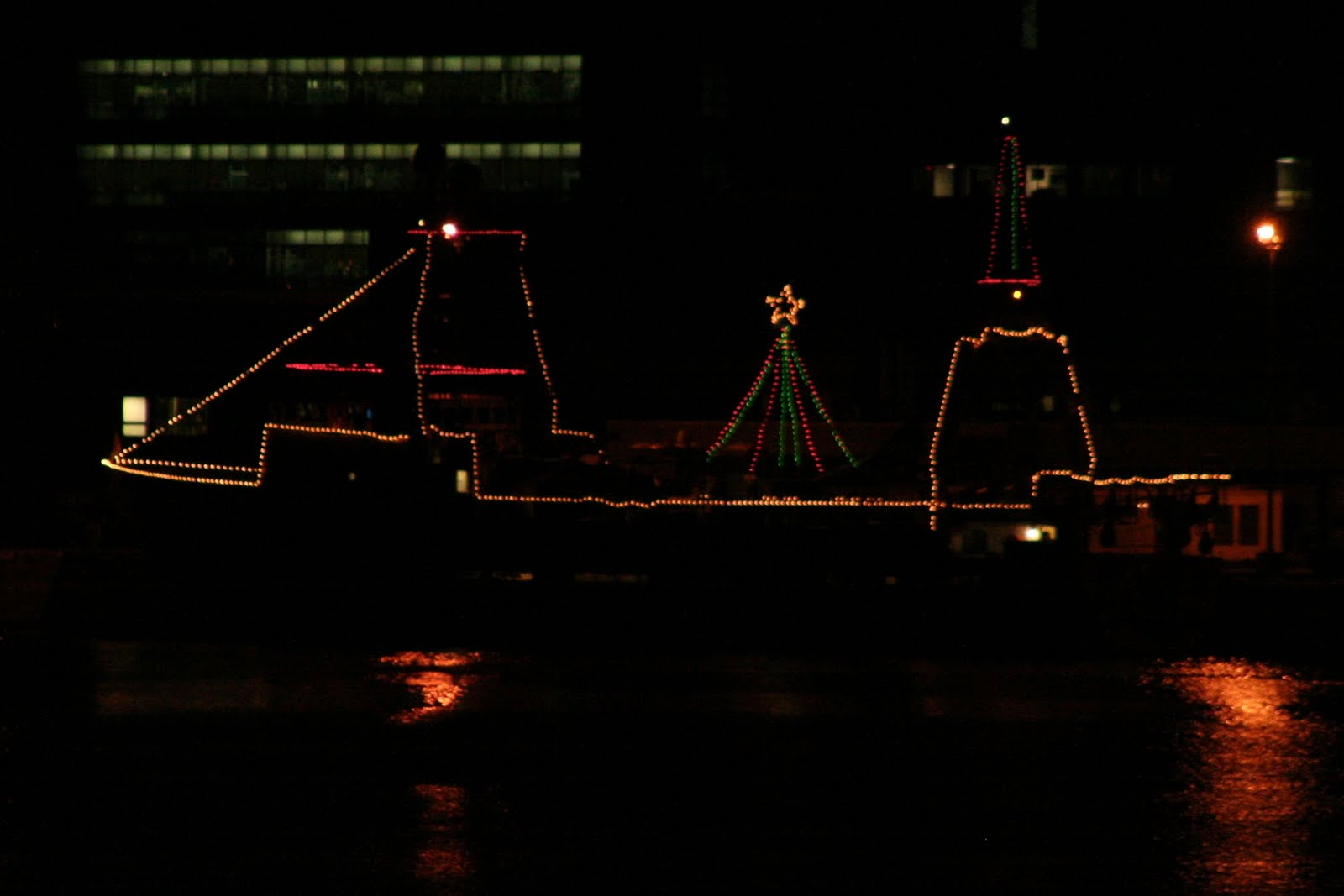 Halifax Harbour Ships Decorated For Christmas