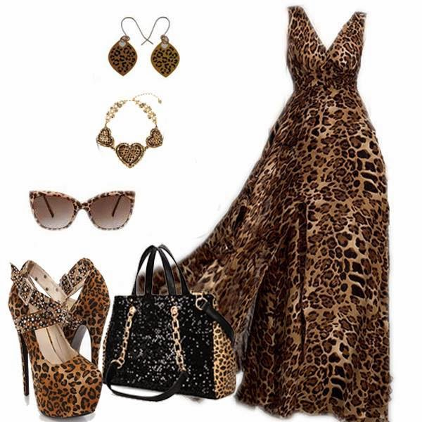 perfect wearing a leopard print, then what ... your dress with different accessories, like sunglasses, hats, shoes to look ... in Women's Fashion and tagged animal print, Collages, Combinations