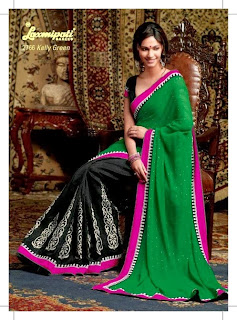 Designer Embroidered Sarees by Laxmipati