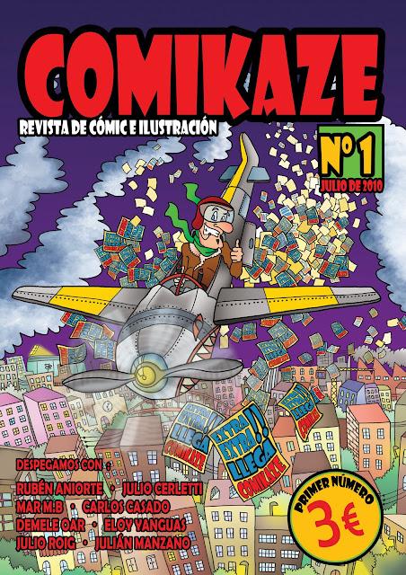 portada de revista de cómic e ilustración