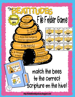 http://www.biblefunforkids.com/2015/04/the-beatitudes-bee-attitudes-bulletin.html