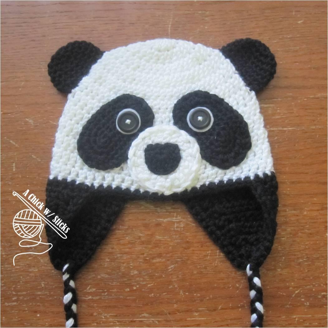 New Pattern: Panda Hat A Chick w/ Sticks