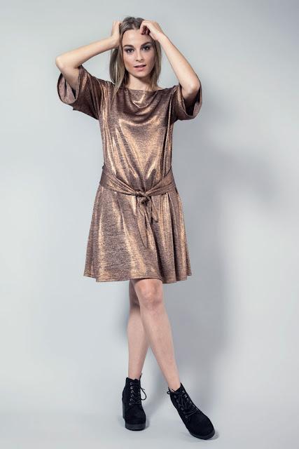 vestido fiesta metalizado