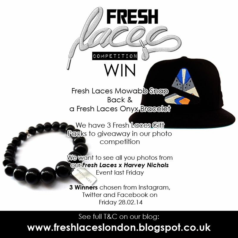 Fresh Laces, Competition, Mowabb, Snap Back, Elisha Francis London, Sneakerhead