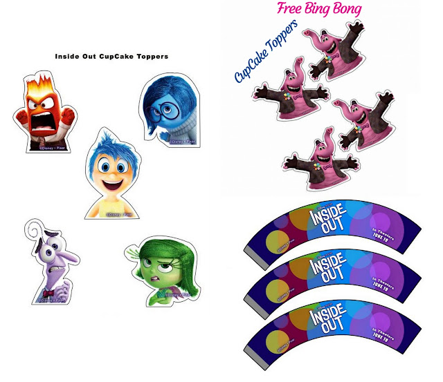 Inside Out: Free Printable Cupcake Toppers and Wrappers.