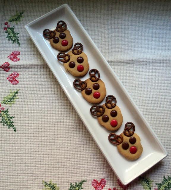 galletas de turrón en forma de renos, receta casera