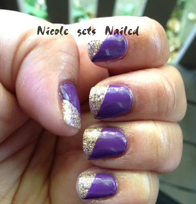 Purple Sally Hansen Big Money Manicure