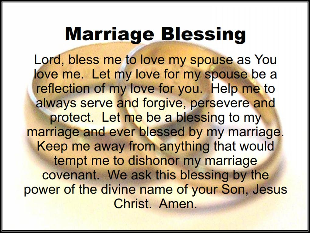 The Marriage Blog A Marriage Blessing