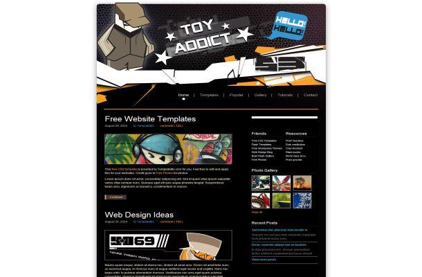 Free Black Toys CSS HTML Website Theme Template - Free Web Templates ...
