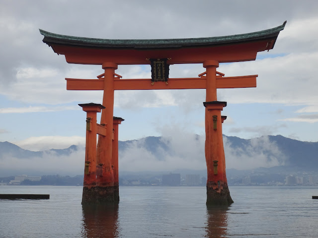 It's a must to see the famous Itsukushima Shrine with floating torii gate at Miyajima Island in Japan