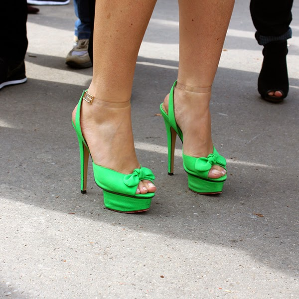 green stiletto shoes