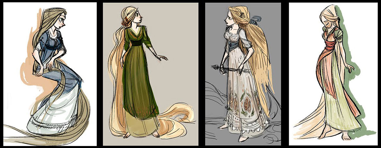 Character Design Disney Pdf : Living lines library tangled character rapunzel