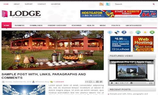Lodge Blogger Template