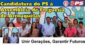 Viste a página oficial da candidatura do PS à Assembleia de Freguesia de Arrouquelas - Facebook
