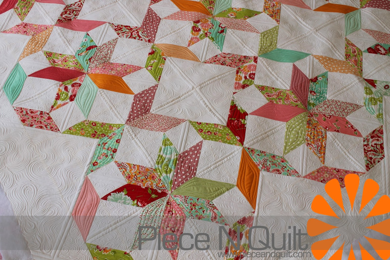 Piece N Quilt Star Quilt Custom Machine Quilting